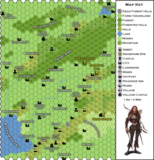Thissel Valley Map